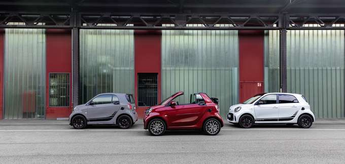 smart EQ fortwo, forfour, fortwo cabrio