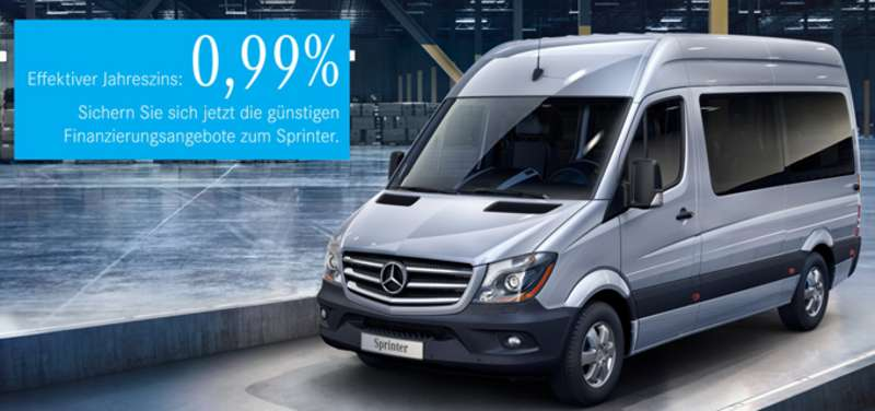 junge sterne sprinter mit 0 99 sonderfinanzierung. Black Bedroom Furniture Sets. Home Design Ideas