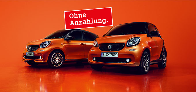 smart fortwo und smart forfour Leasing